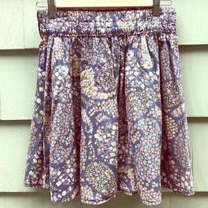 H&M Blue Paisley Floral skirt